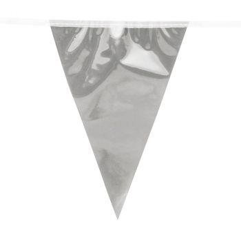 Guirlande fanion métalique argent