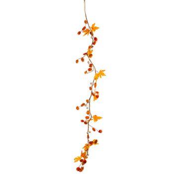 Guirlande fleurs séchées feuile orange 1.20