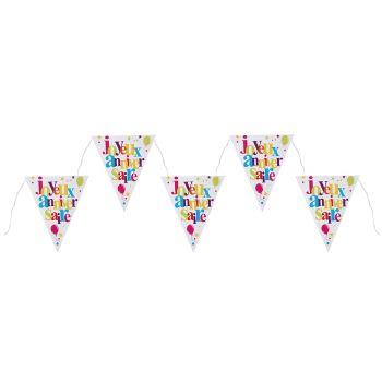 Guirlande joyeux anniversaire multicolore 3m