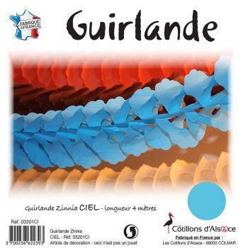 Guirlande Zinnia 4m bleu