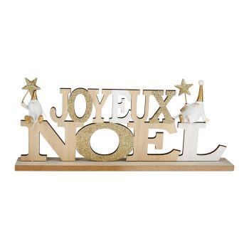 Joyeux Noël boix 30.5x13cm