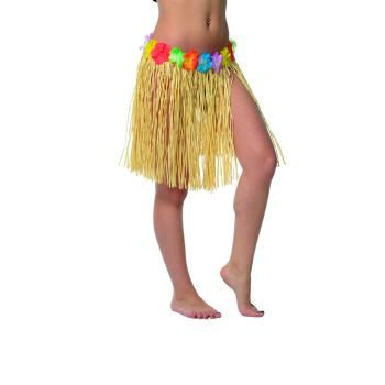 Jupe hawaienne 40 cm rafia naturel