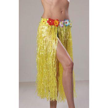 Jupe hawaienne 75cm jaune