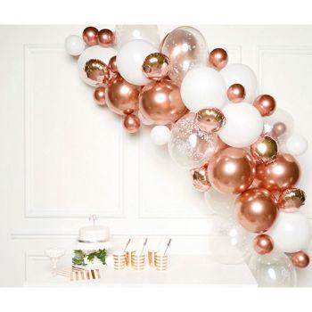 Kit décoration organique rose gold/blanc
