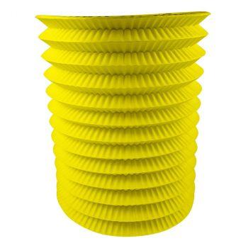 Lampion cyllindrique jaune 16cm