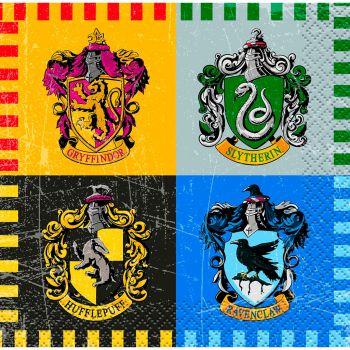 Les 16 serviettes cocktail Harry Potter 24 x 24 cm