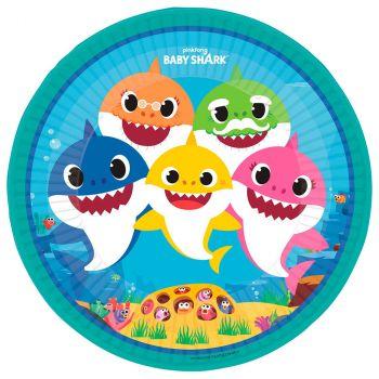 Les 8 assiettes Baby Shark Ø 23 cm