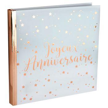 Livre anniversaire 24cm blanc/rose gold