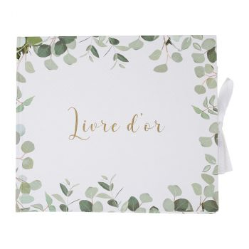 Livre d'or amour eucalyptus 22cm