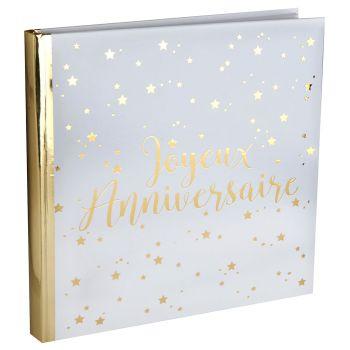 Livre d'or joyeux anniversaire métallisé 24cm