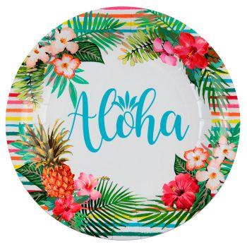 Lot de 10 assiettes aloha 22.5cm