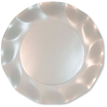 Lot de 10 assiettes blanc perlé 27cm