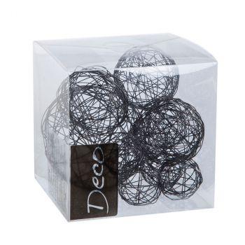 Lot de 10 balles fil métal noir