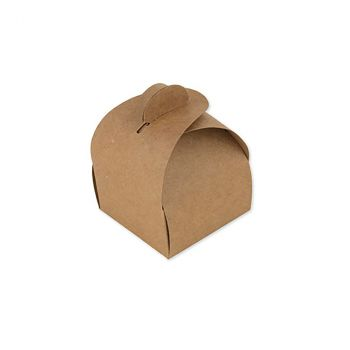 Lot de 10 boîtes arrondies kraft 7cm