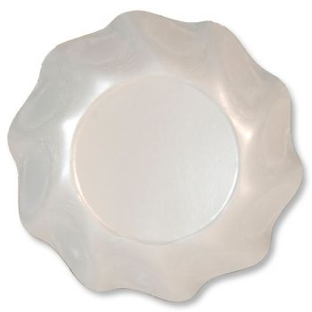 Lot de 10 coupelles rondes  blanc perlé 18cm