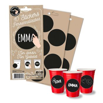 Lot de 10 stickers chic my cup