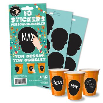 Lot de 10 stickers mexique my cup