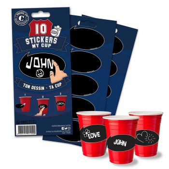 Lot de 10 stickers my cup