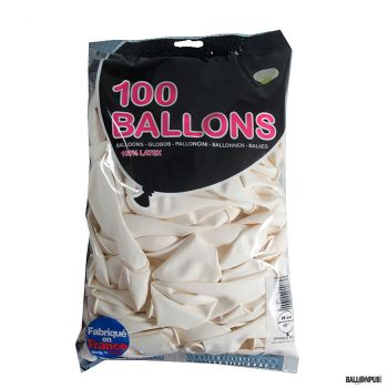 Lot de 100 ballons blanc latex 25cm