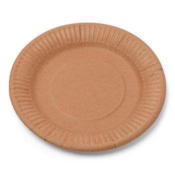 Lot de 12 assiettes carton kraft 18cm