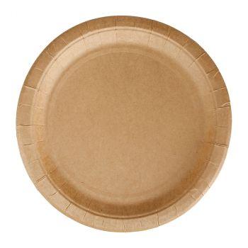Lot de 12 assiettes carton kraft 23cm