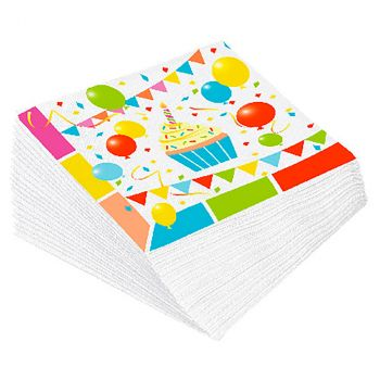 Lot de 12 serviettes surprise 33x33cm