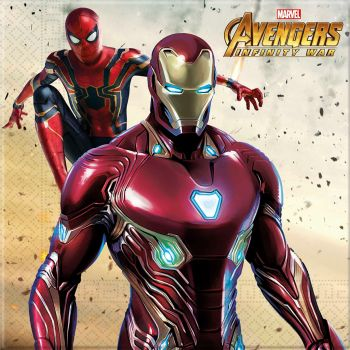 Lot de 16 serviettes Avengers 33x33cm