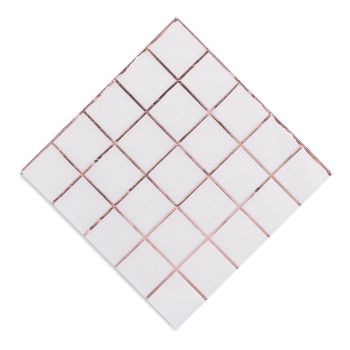 Lot de 16 serviettes carreaux 33cm