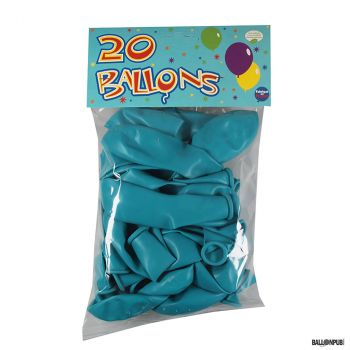 Lot de 20 ballons bleu latex 25cm