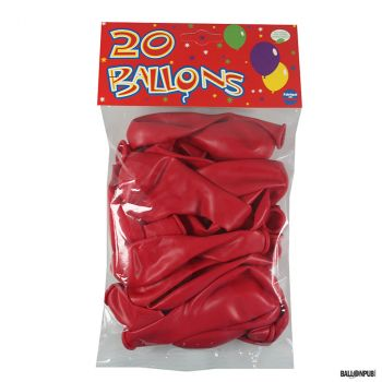 Lot de 20 ballons rouge latex 25cm