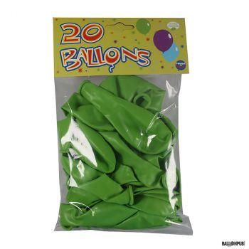 Lot de 20 ballons vert latex 25cm