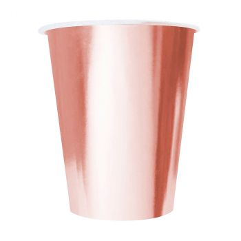 Lot de 20 gobelets papier rose gold 53cl