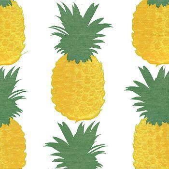 Lot de 20 serviettes ananas  40cm