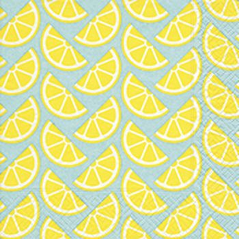 Lot de 20 serviettes citrons 33cm
