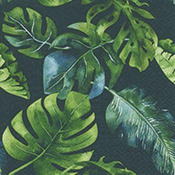 Lot de 20 serviettes feuilles jungle 33cm