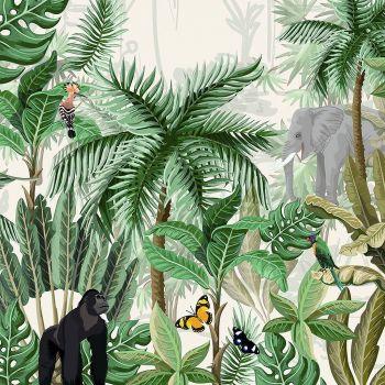Lot de 20 serviettes forêt tropical 33cm