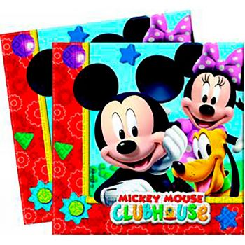 Lot de 20 serviettes Mickey 33x33cm