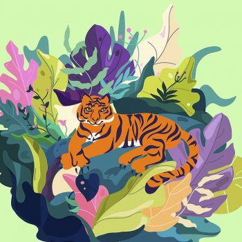 Lot de 20 serviettes tigre 33cm