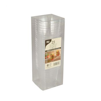 Lot de 25 verrines rectangle transparente 6,2cm