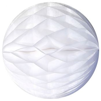 Lot de 3 boules alvéolées 8cm blanc