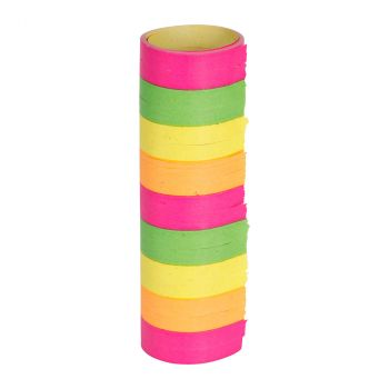 Lot de 3 rouleaux serpentins fluo 4m