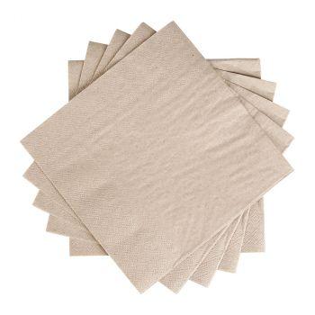 Lot de 30 serviettes kraft écologiques 33cm