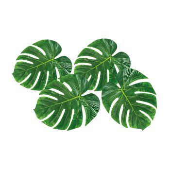 Lot de 4 feuilles de palmier