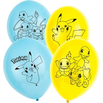 Lot de 5 ballons en latex Pokémon 28cm