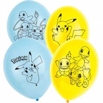 Lot de 5 ballons en latex Pokémon 28cm