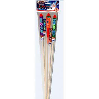 Lot de 5 fusées rocket F2