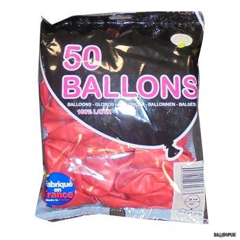 Lot de 50 ballons rouge latex 25cm