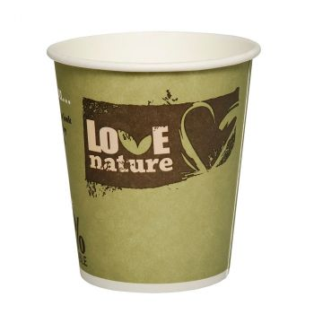 Lot de 50 gobelets love nature 8,8cm