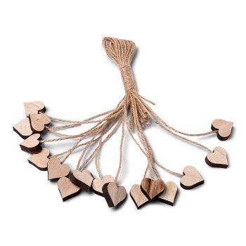 Lot de 6 cœurs avec fil