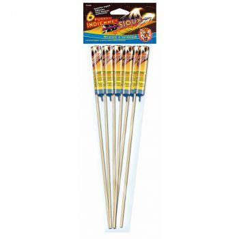 Lot de 6 fusées argent F2